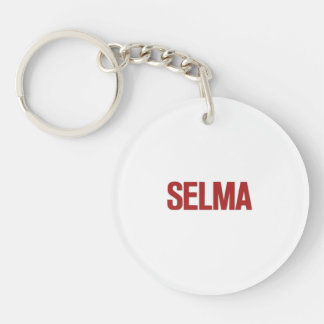 MLK Day-Selma Red Double-Sided Round Acrylic Keychain