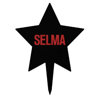 MLK Day-Selma-Red on Black Cake Toppers
