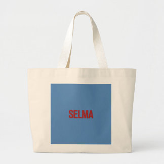 MLK Day-Selma Red on Blue Tote Bag