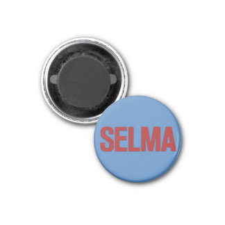 MLK Day-Selma Red on Blue Magnets