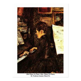 Mlle Dihau Au Piano Postcard
