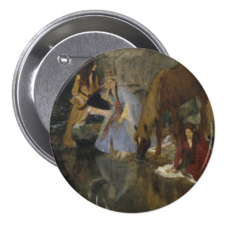 Mlle Fiocre in Ballet La Source by Edgar Degas 3 Inch Round Button