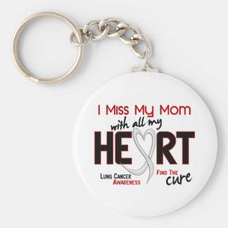 Mlle My Mom du cancer de poumon I Porte-clé Rond