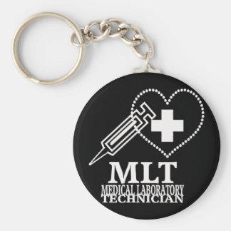 MLT HEART SYRINGE MEDICAL LAB TECH LOGO KEYCHAIN