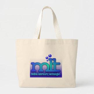 MLT - WTIH BUBBLES - MEDICAL LABORATORY TECH LARGE TOTE BAG