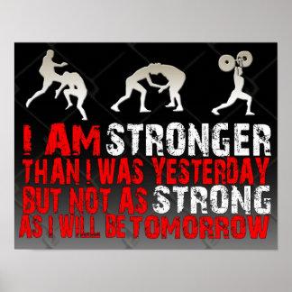 """MMA / BJJ  / Kick Boxing """"Stronger"""" Poster"""