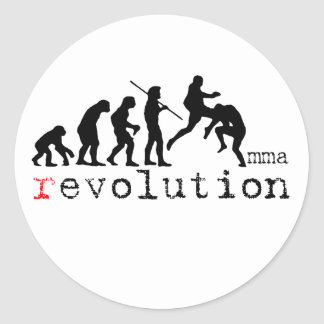 MMA Evolution Chart Flying Knee Sticker