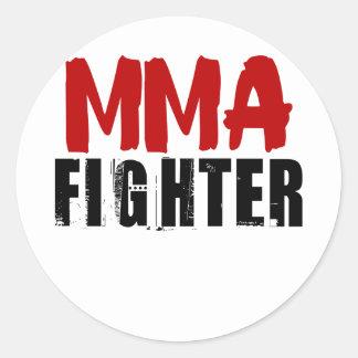 MMA Fighter3 Classic Round Sticker