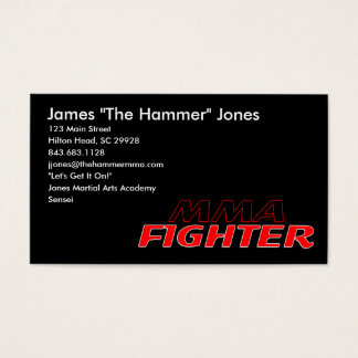 MMA FIGHTER BUSINESS CARD