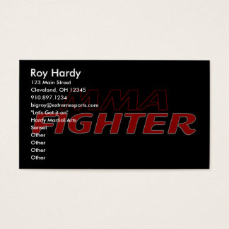 MMA FIGHTER DESIGN 1 BUSINESS CARD
