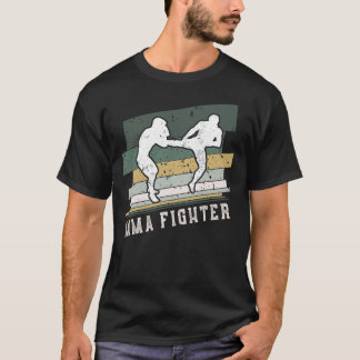 MMA Fighter Retro Vintage Stripes T-Shirt