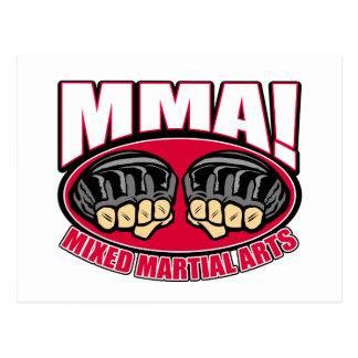 MMA Fists Postcard