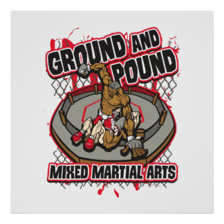 MMA Ground and Pound Poster