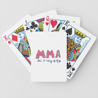 MMA It's a Way of Life Bicycle Playing Cards