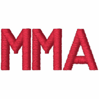 """""""MMA"""" MIXED MARTIAL ARTS EMBROIDERED EMBROIDERED HOODIE"""