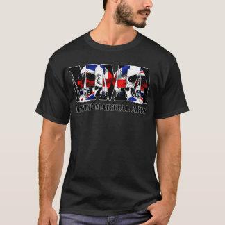 MMA Mixed Martial Arts UK Flag & Skulls T-Shirt