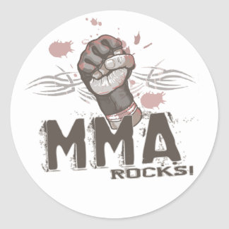 MMA Rocks Round Sticker