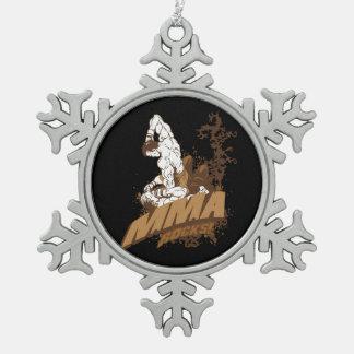 MMA Rocks Snowflake Pewter Christmas Ornament