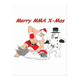 MMA Santa Postcard