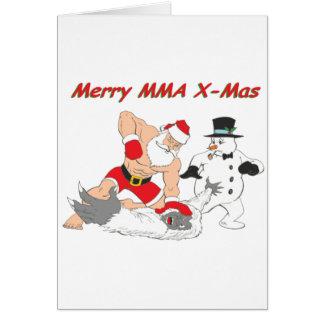 MMA Santa vs The Yeti Snow Monster Card