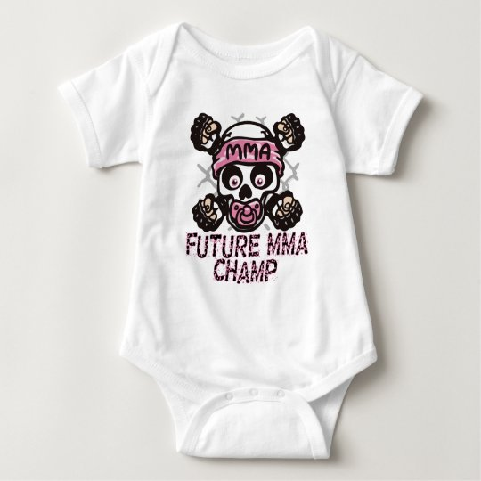 MMA Skull and Binky Baby Bodysuit