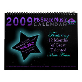 MMC 2009 MYSPACE MUSIC CALENDAR - Original Front