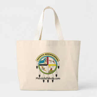 MMDC Mendota Dakota Logo and Webs Large Tote Bag