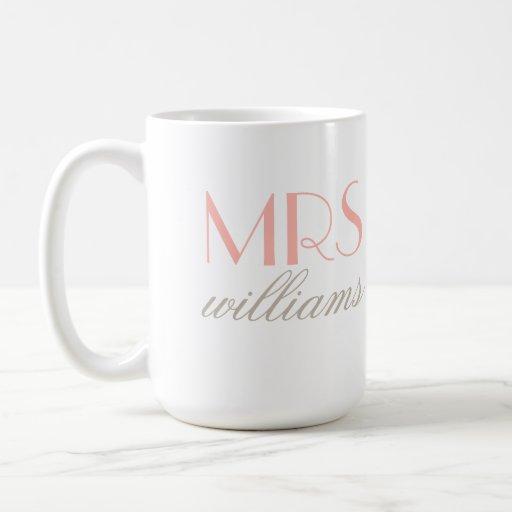 Mme faite sur commande cadeaux de future mariée de tasses à café