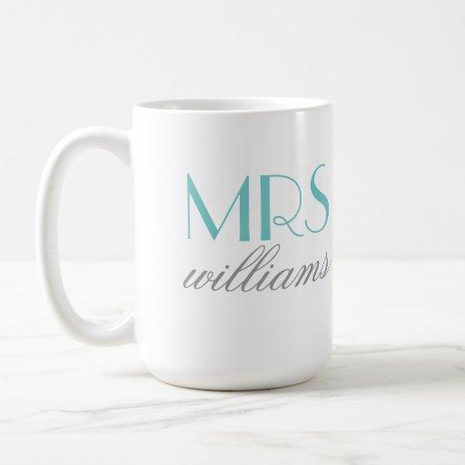 Mme faite sur commande cadeaux de future mariée de tasse à café