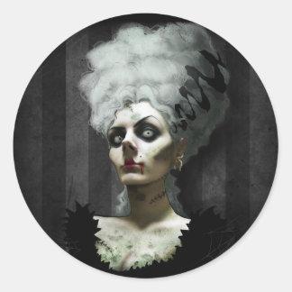 Mme Fright Sticker Adhésifs