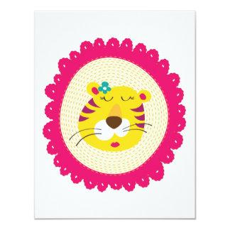 Mme Tiger Carton D'invitation 10,79 Cm X 13,97 Cm