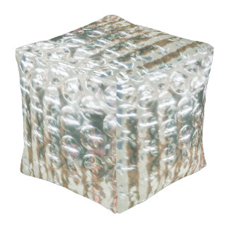 mmetropolim FUN Collection Silver GLAM POUF ottoma