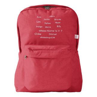"MMetropolim ""Whose Name Is It?American apparel bac Backpack"