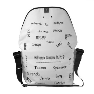 """MMetropoLim """"Whose Name Is It ? Collection"""" unisex Commuter Bags"""