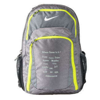 "MMetropolim ""Whose Name Is It?  NIKE  Backpack"