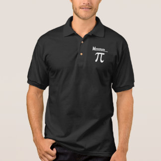 Mmm Pi Symbol Nerd Funny Polo Shirt