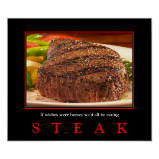 MMM...  STEAK!    sutible for portfolio and small Poster