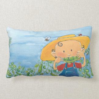 MMMM... Peas please! Lumbar Pillow