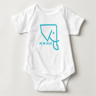 MMNH Blue Elephant Baby Romper