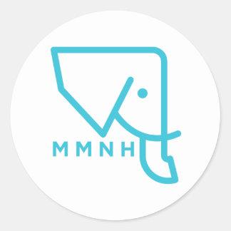 MMNH Blue Elephant Sticker