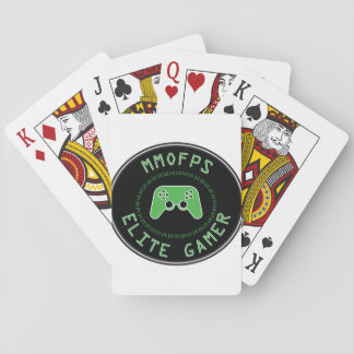 MMOFPS Elite Gamer Playing Cards