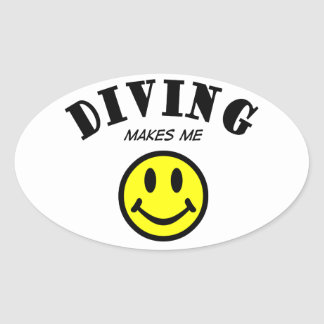 MMS: Diving Oval Sticker