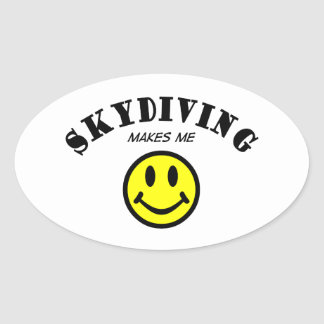 MMS: Skydiving Oval Sticker