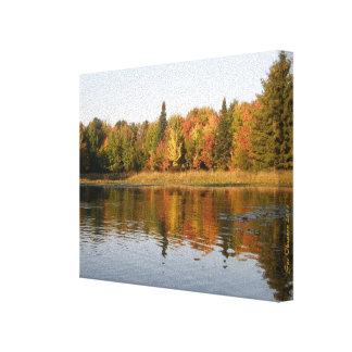 "MN Lake Fall Reflections 10 x 8 x .75"" frame Canvas Print"