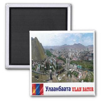 MN - Mongolia - Ulan Bator - Panorama Square Magnet