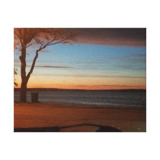 MN Sunrise over Detroit Lake Canvas Print