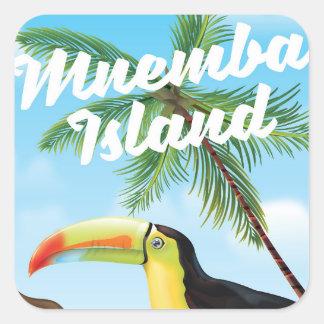 Mnemba Island Square Sticker