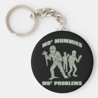 mo mummies mo problems funny halloween keychains
