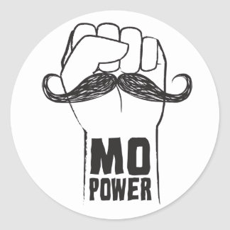 Mo Power Classic Round Sticker