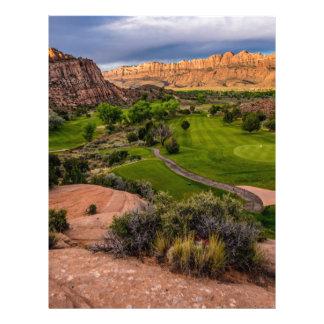 Moab Desert Canyon Golf Course at Sunrise Custom Letterhead